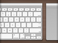 Apple Wireless Keyboard and Magic Trackpad