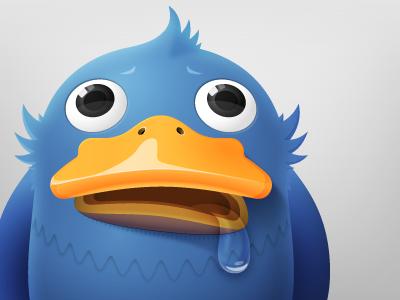 """Adium Icon """"Fatbird"""" illustration illustrator vector character icon"""