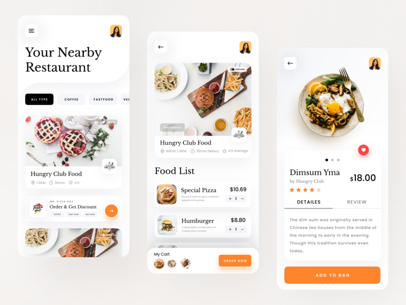 Food Delivery App home delivery application trend 2020 design trend minimal app minimalistic clean ui uxdesign uidesign typogaphy food delivery service food delivery app delivery app food delivery food app foodie food product page app design app concept