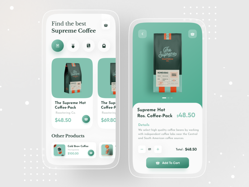 Product Page Ui Exploration imran product design ui design ios app design app ui coffee app dribbble best shot food delivery app food app image ecommerce app ecommerce user experience app design android app design 2020 trend