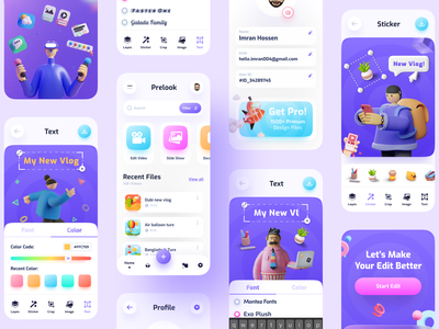 Editing App app ui design editing photo photo dribbble best shot popular editing app editing ui ux uiux trendy imran minimal user experience app ui app design product design product page