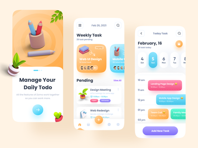 Task manager - Mobile App popular uiux user interface app ui minimal app design imranux imran zomo tasks task task management app task management task manager todo list todo todo app project managment management app management