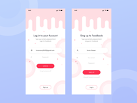 Login, Sing up app UI