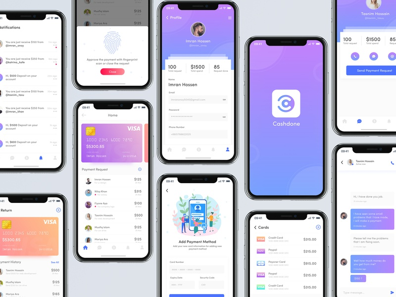 Online Payment Request App Ui Design by Imran Hossen on Dribbble
