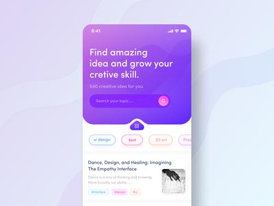 Article Reader App Concept