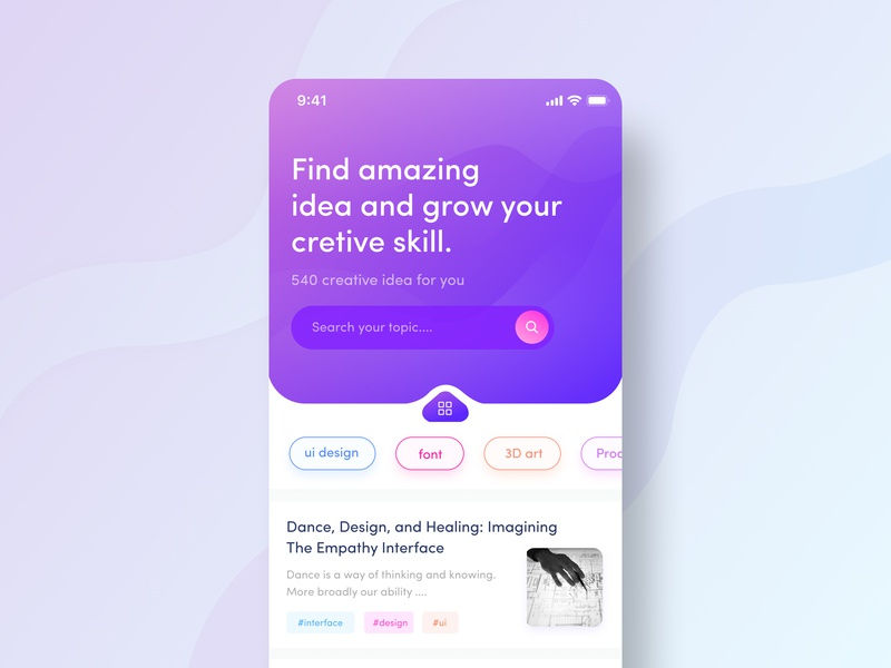 Article Reader App Concept animation illustration user experience user experience design user interface design ui desgin ux ui dribbble ios app design app design app ui app