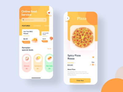 Food Application Ui Design