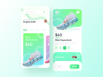 E commerce App Concept | Colourful Ui Design