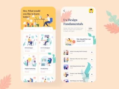 Online Course Mobile App    Concept