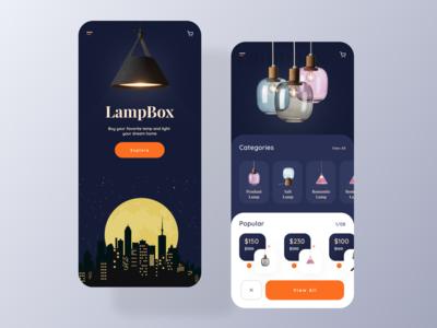 E-commerce Lamp Product App