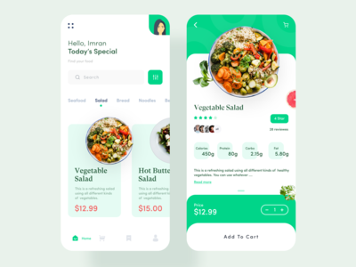 Food Order App UI Design