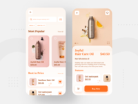 Beauty Product App UI