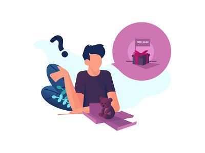 How to packaging ? uiux character flatdesign web ux flat design illustration vector ui