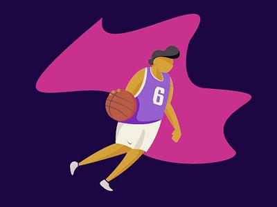 Basketball #3 dribbble awesome basketball flat design ux ui ilustration vector