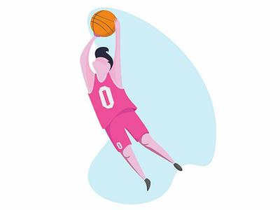Basketball #4 shot basketball flat ux ui design vector illustration