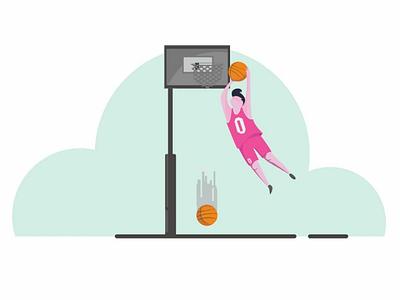 Basketball #4b basketball ux ui design vector illustration