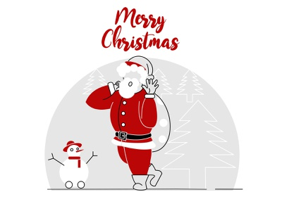 santa claus 01 background white year new flat frozen deer candy gif red vector illustrator celebrate snow winter claus santa december christmas