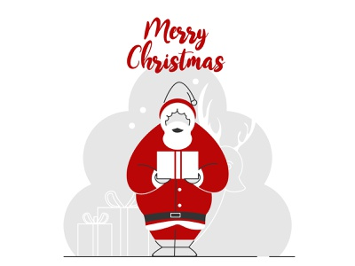 santa claus 02 character clean ui vector illustrator red year new happy white snow winter claus santa christmas