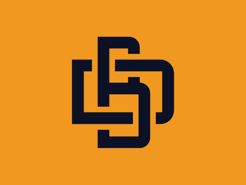 Bryson Design Co monogram alt color monogram b d logo design