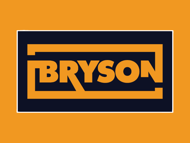 Bryson Design Co patch V1 alt color patch typography logo badge