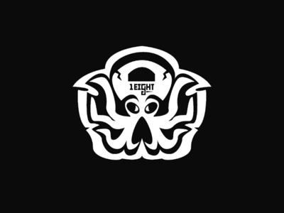 Kettlebell octopus mascot
