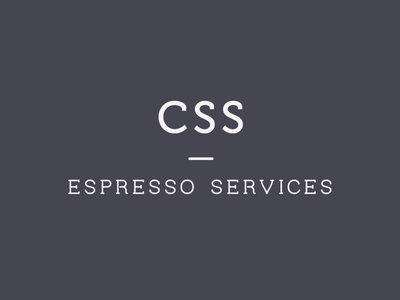 CSS Espresso Services minimal logo