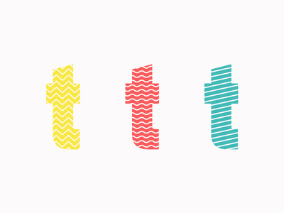 T Cosmetics Concept 90s wip patterns logo