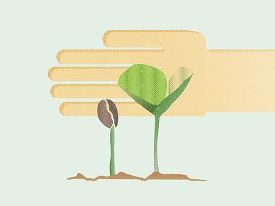 Grown & Nurtured vector illustration textures