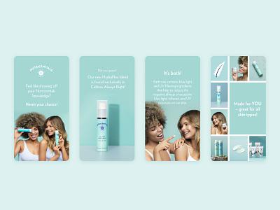 Instagram Story Design wellness skin layout insta story ui skin care instagram story instagram story beauty