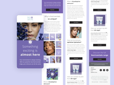 Email Design for beauty brand ui product skin skincare figma crm email template email wellness launch beauty