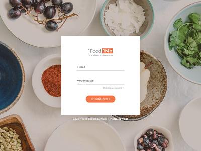 Sign up Page nutrition platform website image background food ux design ui design sign up page sign up