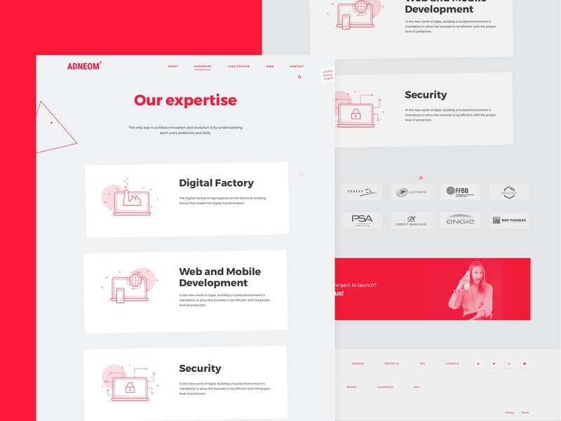 Expertise page 📡 gif ux design ui design tech picto illustrator illustration icon solution expertise website