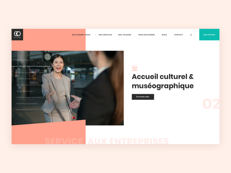 webdesign services services vertical scroll coral landing page typography ux style minimal interface web flat design clean ui branding