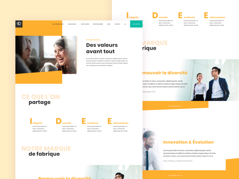 webdesign Values page