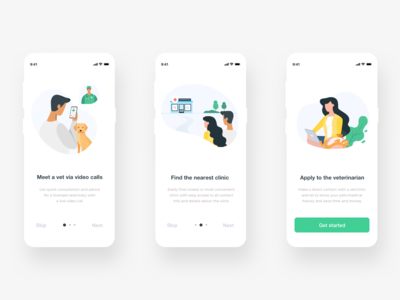 Onboarding for Pets Care App