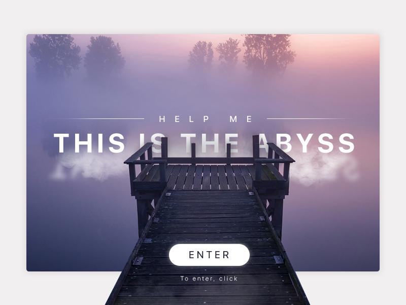 Creative abyss dream banner app site ux mobile ui design sad crisis