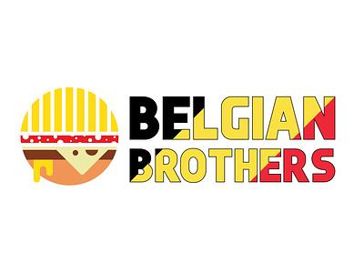 Belgian Brothers Logo Branding vector simple logo design identity design minimal branding logo brothers belgian