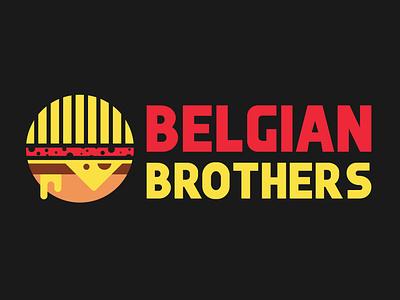 Belgian Brothers Logo Design simple unique logo design identity design minimal branding logodesign logo brothers belgian