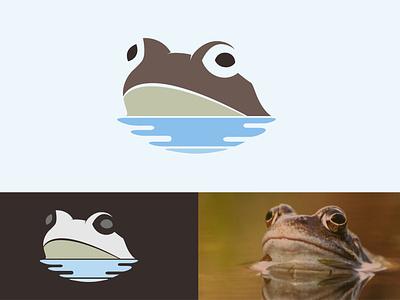 Frog Logo Design flat water animal icon simple design minimal logodesign frog logo frog