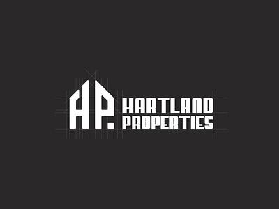 Hartland Properties Logo Design building icon creative logo unique minimal logodesign letter p letter h real estate logo home
