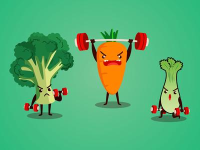 Vegitables Gym illustration
