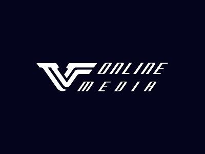 "Logo Design for ""VF Online Media"" logotype app illustration logo unique business logo icon simple typography logo design unique identity design branding minimal"