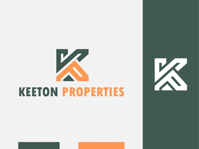 Keeton Properties minimal logotype k logo properties keeton ral mark esportlogo identity icon house estate branding brand