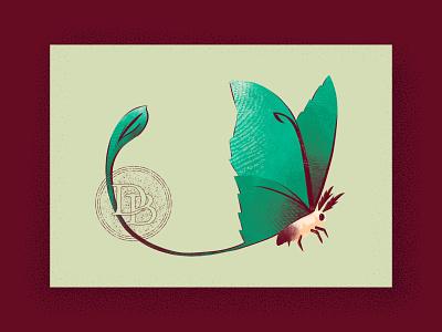 Luna Moth Card illustration postcard bug insect wings moth luna moth card