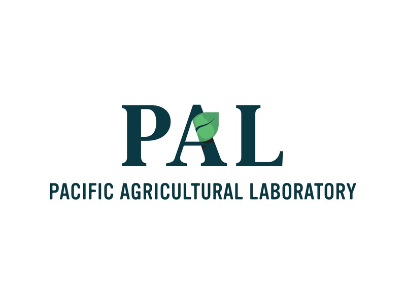 PAL (Pacific Agricultural Laboratory) green foliage leaf branding logo west coast pacific agriculture laboratory pal