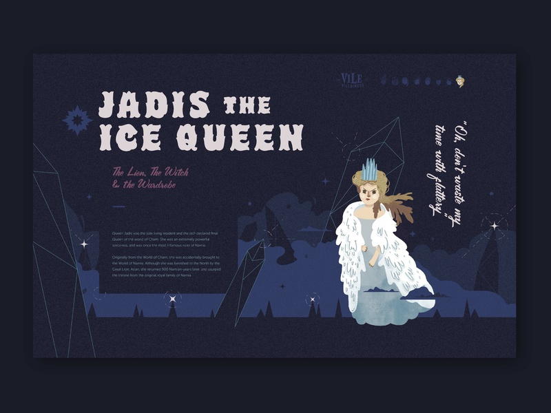 Vile Villainess - Jadis the White Witch Bio the white witch jadis website illustration