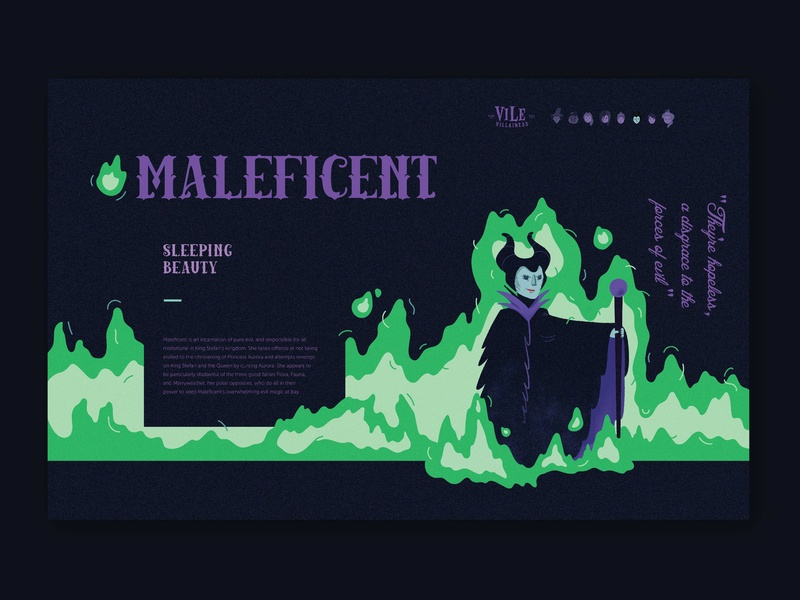 Vile Villainess Maleficent Bio By Tory Cunningham On Dribbble