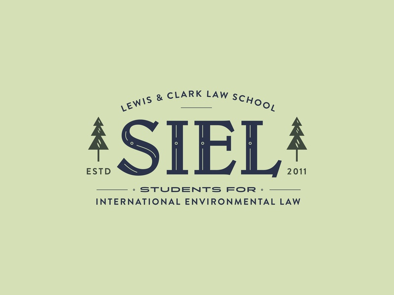 SIEL logo trees lewis and clark law students law international  law environmental design environmental branding