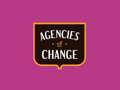 Agencies of Change Logo seal badge agency branding logo agencies of change