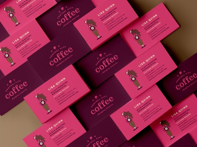 Central City Coffee - Business Cards coffee archetype business card pdx logo branding illustration central city coffee portland branding design